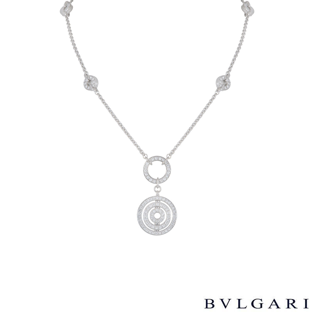 Bvlgari White Gold Diamond Astrale Necklace